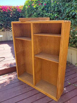 FREE - Oak bookcase with adjustable shelves for Sale in San Diego, CA