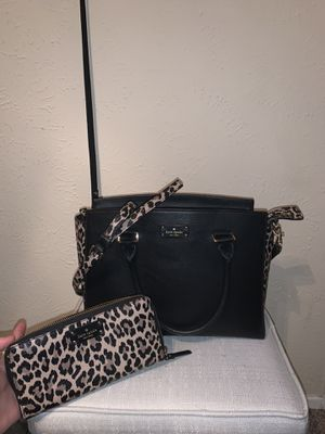 Lepord Kate Spade Purse & Wallet for Sale in Tyler, TX