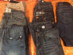 6 Youth Men's Size 30 Designer Jeans Lot Bundle $20 For All for Sale in Moreno Valley, CA