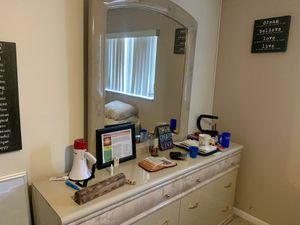 Marble Dresser with mirror for Sale in Margate, FL