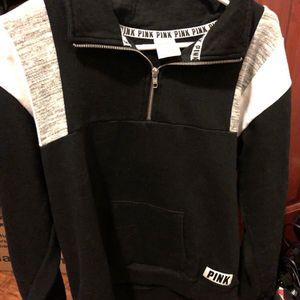 PINK Black/ White/ Grey Quarter Zip Hoodie for Sale in Monroe, MI