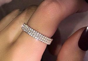 925 Sterling Silver Filled White Sapphire Diamond Pave Ring for Sale in Wichita, KS