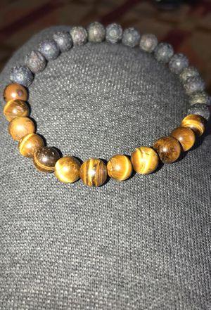 Tiger Eye and Lava Stone bracelet $20 for Sale in Rockville, MD