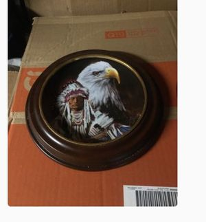 Used, Summer the eagle spirit collection collector plates with wooden frame $30 each have set negotiable for Sale for sale  Bayonne, NJ