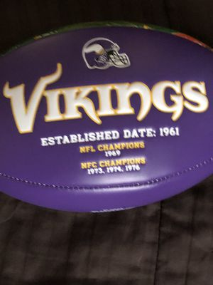 Collection Vikings football for Sale in Mitchell, SD