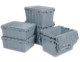 High Quality Stackable Heavy Duty Plastic Storage Bins / Totes Containers moving boxes get packed get organized for Sale in Seattle, WA