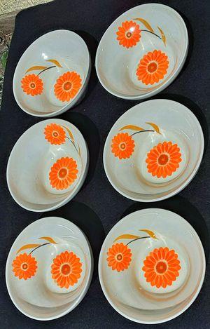 Mid century modern Ben seibel iroquois intaglio Rosette Sun cereal bowls x 6 MCM for Sale in Saginaw, MI