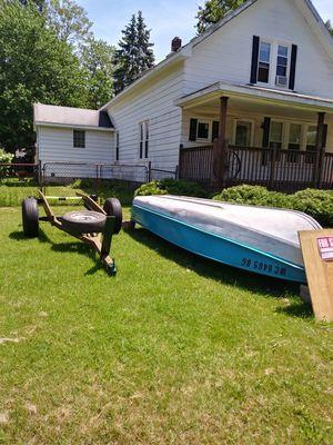 14 ft Alum Aerocraft boat with motor for Sale in Romulus, MI