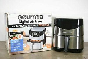 Gourmia 6 Qt quartz digital touch LCD display no oil healthy living eating air fryer for Sale in Whittier, CA