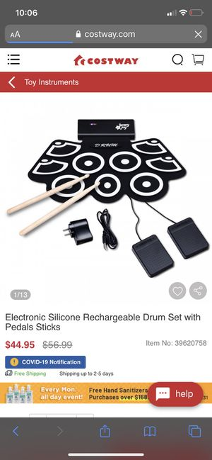 Drum set with pedal stick for Sale in CTY OF CMMRCE, CA