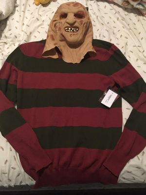 Halloween FREDDY CRUGER MASK & SWEATER for Sale in Bronx, NY