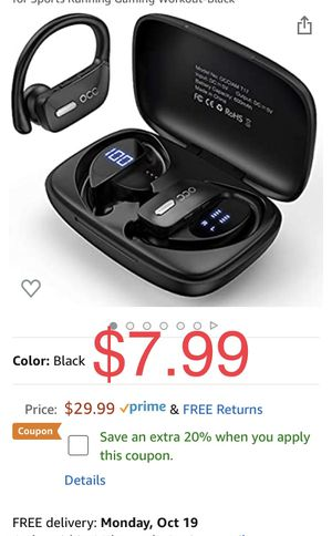 Brand new Bluetooth Wireless 48Hrs Playtime Earphones for Sale in Davie, FL