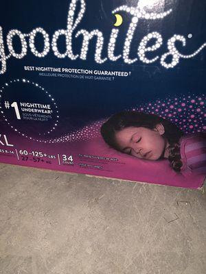 New in box huggies goodnites underwear pull-ups L/XL for Sale in Oak Lawn, IL