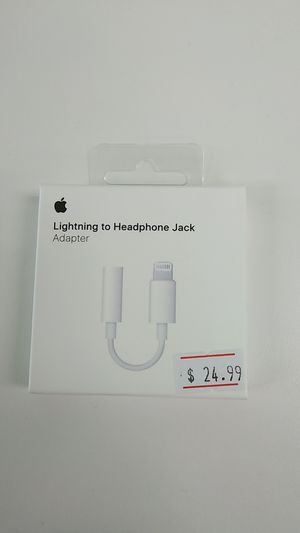 Apple iPhone lighting to headphone jack adapter for Sale in Harvey, MI