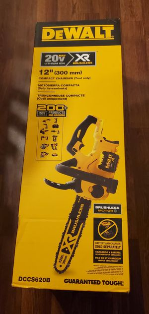 """TOOL ONLY Dewalt xr 20v Max Brushless Compact Chainsaw 12"""" in for Sale in Charlotte, NC"""