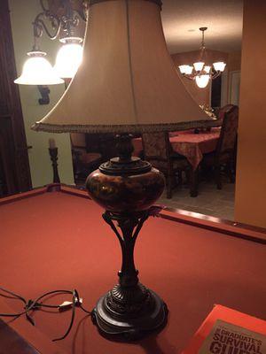 Lamp brass and glass for Sale in Tamarac, FL
