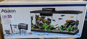 55 Gallon Aquarium Fish Tank With Stand, Light, Tops, Filter and Heater for Sale in Wayne, NJ