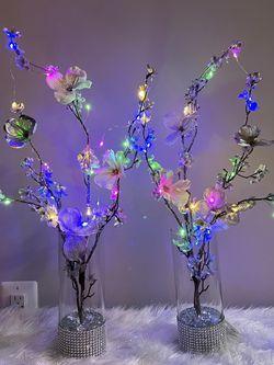 Silk Flowers Glass Vase Led Lights for Sale in Herndon,  VA