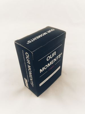 Our moments- 100 conversation starters for couples playing cards for Sale in Atascocita, TX