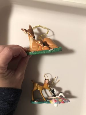 Disney Bambi glass ornaments for Sale in Bedford Park, IL