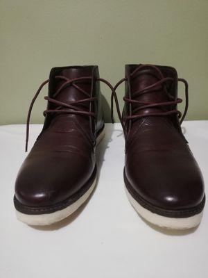 Crevo Men's Cray Leather Chukka Boots Maroon Size 11 CV1424-606 for Sale in Lorton, VA
