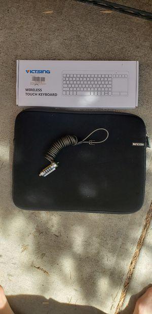 Laptop Case, Wireless Keyboard & Computer Lock for Sale in Denver, CO