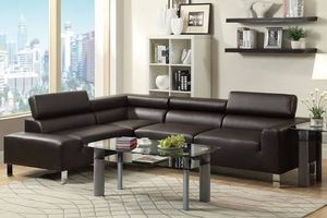 Modern Espresso Sectional for Sale in Potomac, MD