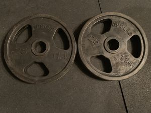 Pair of rubber weights plates for Sale in Hemet, CA