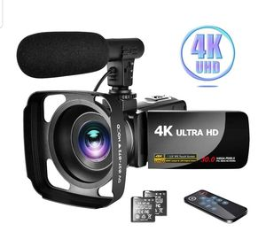 "Video Camera 4K Camcorder with Microphone Ultra HD 30MP 3.0"" IPS Touch Screen with Lens Hood & 2 Batteries for Sale in Fort Lauderdale, FL"