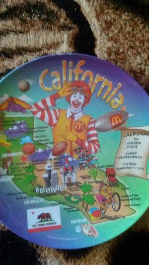 Vintage McDonalds California plate for Sale in Marina, CA