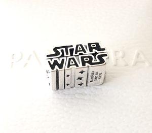 Pandora Disney Star Wars Silver 3D Logo Black Charm #799246C01 +Gift Box +Tag for Sale in Fontana, CA