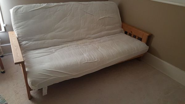 Wood futon and matress and water proof covered