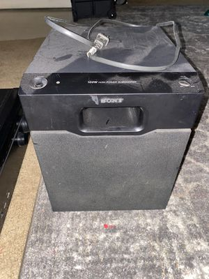 Sony subwoofer for Sale in Visalia, CA
