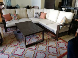 New outdoor patio furniture sectional with coffee table tax included free delivery for Sale in Hayward, CA