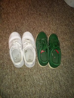Nike af1's whte and green size 12 (Trades?) for Sale in Lexington, KY
