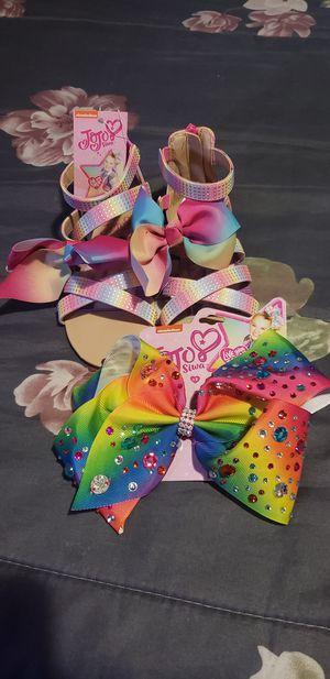 Jojo siwa sandals & bow for Sale in Montebello, CA