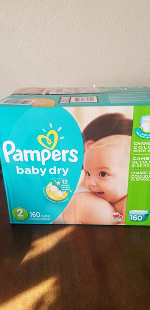Pampers baby dry size 2 160 daipers $30 firm price for Sale in Los Angeles, CA