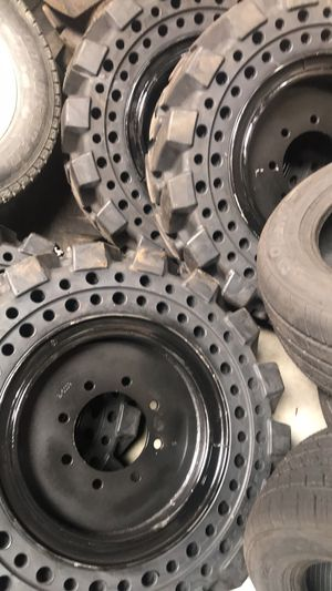 4x solid bobcat tires 10-16.5 $1800 cash no bargain price firm for Sale in San Bernardino, CA