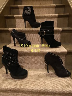 Fashion Booties and Half Boots size 8 1/2 for Sale in Orlando, FL