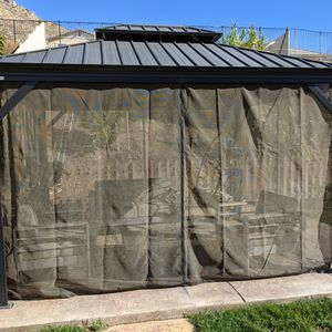 Sojag Charcoal Messina Hard Top Sun Shelter - 10' X 12' for Sale in Moreno Valley, CA