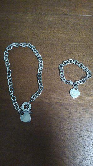 100% Genuine Tiffany necklace and bracelet for Sale in Brandon, FL