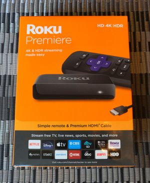 Roku Premiere 4K streaming media player w/ remote - new & sealed for Sale in Duluth, GA