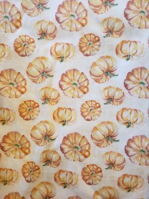 2yds.of pumpkin fabric. Really cute and understated. Enough for table cloth. New never used for Sale in Hainesport, NJ