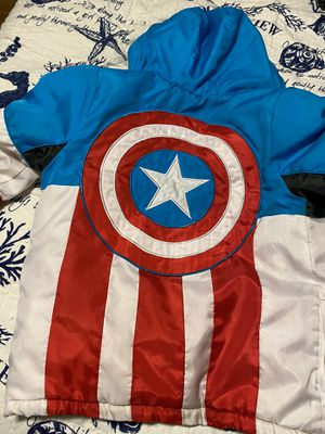 Boys Captain America Coat Size 9/10 for Sale in Everett, MA