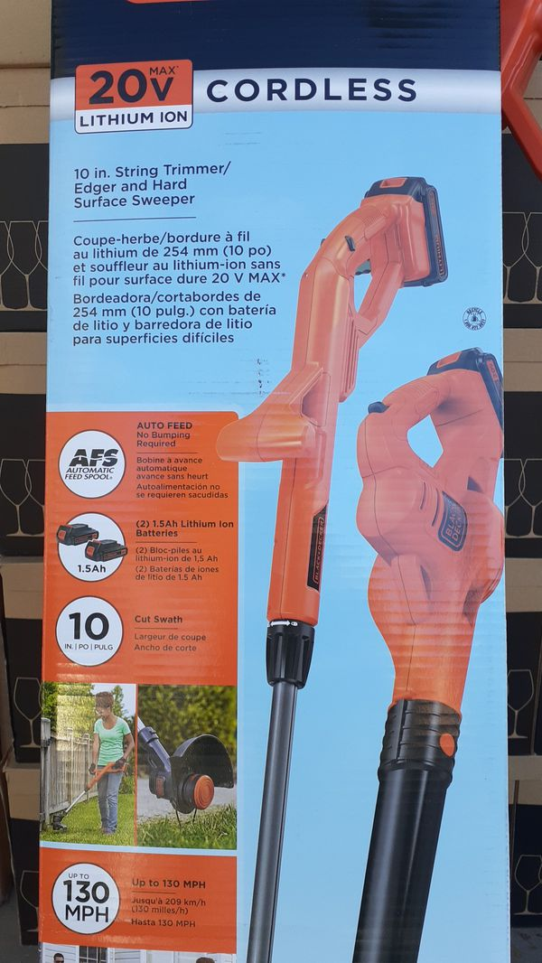 Black and Decker 20v Cordless Trimmer and Blower 2× batteries $40. 89103