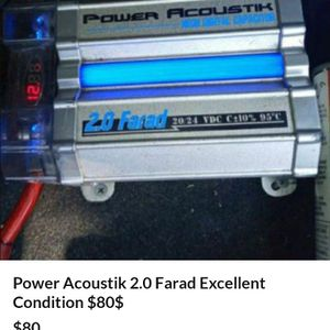 Power Acoustik Farad 2.0 Capacitor Hligh Flow for Sale in Carson, CA