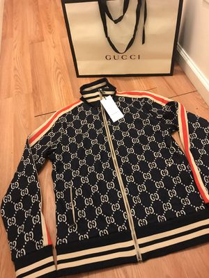 Authentic Gucci gg track jacquard zip up jacket sz L for Sale in Tinton Falls, NJ