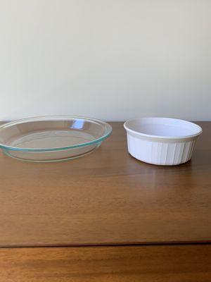 Pie Dish and Soufflé Dish for Sale in Falls Church, VA