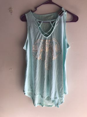 Jerry Leigh juniors elephant lace tank top size L for Sale in Clermont, FL