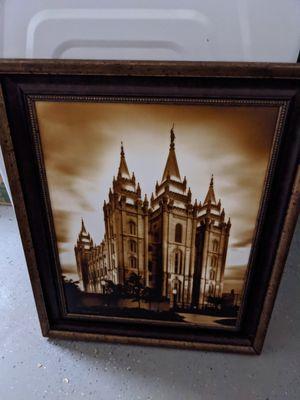 Salt lake city LDS temple art framed 30.5 in x 25.5 in for Sale in Mesa, AZ
